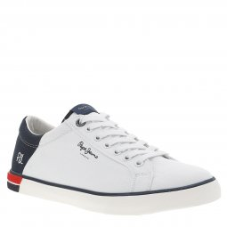 Baskets Pepe Jeans Marton Low en toile blanche