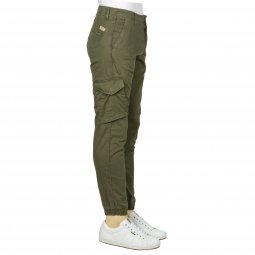 Pantalon jogger Teddy Smith Battle en coton stretch kaki