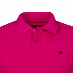 Polo Teddy Smith Pilote en coton rose fuschia