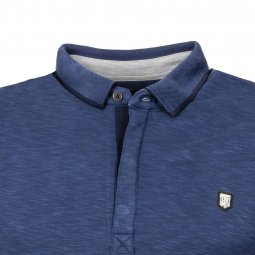 Polo Teddy Smith Garling en modal mélangé bleu marine