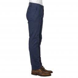 Pantalon Tom Tailor en coton stretch bleu marine