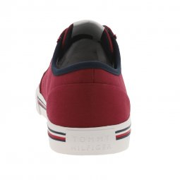 Baskets Tommy Hilfiger Corporate en toile rouge