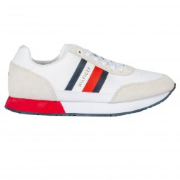 Baskets Tommy Hilfiger Corporate Mix Flag en cuir blanc