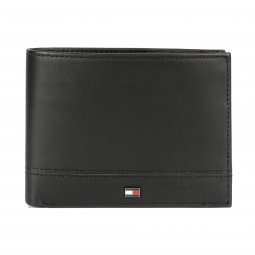 Portefeuille italien Tommy Hilfiger Essential Extra noir