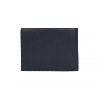 Homme En Cuir Bi-Fold Portefeuille /& porte-cartes FI4002L-Noir #118
