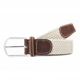 Ceinture Billy Belt tressée beige sable