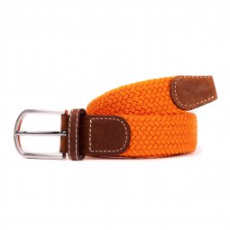 Ceinture Billy Belt tressée orange abricot