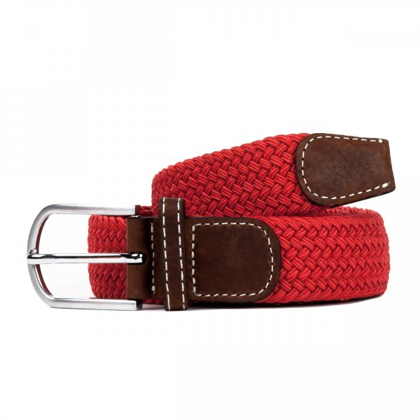 Ceinture Billy Belt tressée rouge grenade