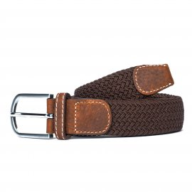 Ceinture Billy Belt tressée chocolat