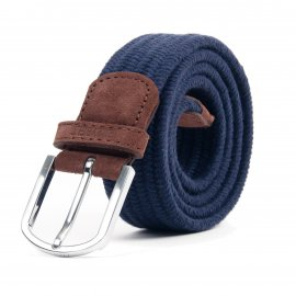 Ceinture Billy Belt en laine tressée bleu royal