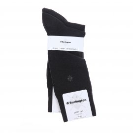 Lot de 2 paires de chaussettes Burlington en coton anthracite