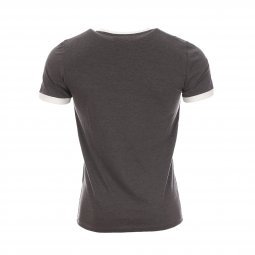 Tee-shirt Ticlass Teddy Smith anthracite et blanc