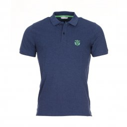 Polo Selected en coton bleu nuit