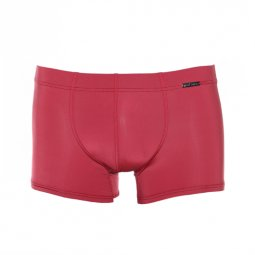 Shorty Casualpants Olaf Benz rouge satiné en microfibre