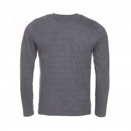 Tee-shirt manches longues et col rond Ticlass 3 Teddy Smith en coton gris chiné