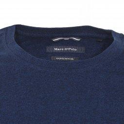 Tee shirt col rond Marc O'Polo en coton bleu moucheté