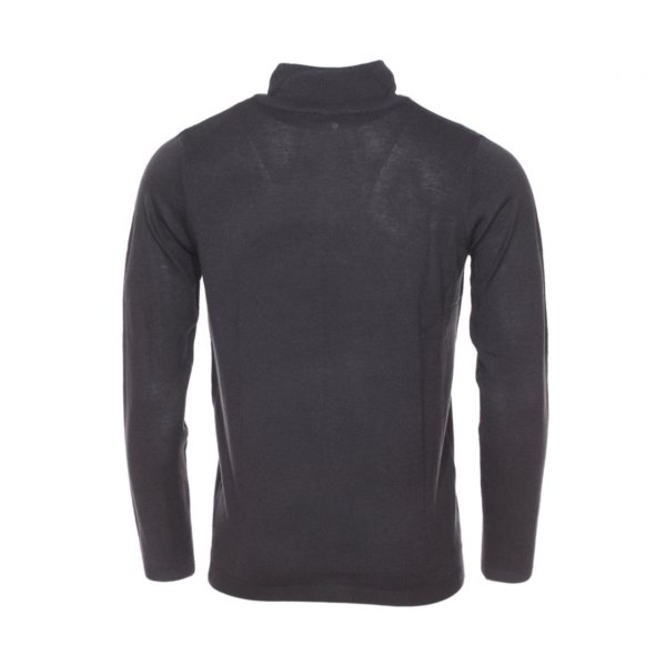 Pull col zippe Best Mountain en laine Merinos gris anthracite