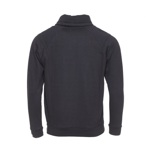 Sweat Best Mountain en coton noir a surpiqures aux epaules