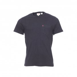 Tee-shirt col rond Sunset Pocket Levi's en coton noir