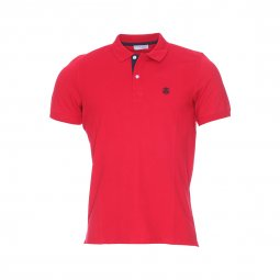 Polo Selected en maille piquée rouge