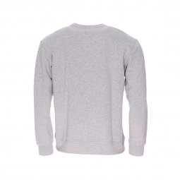 Sweat col rond Lee Logo SWS gris clair imprimé
