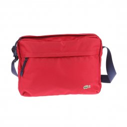 Porte-documents/ ordinateur Lacoste en toile rouge
