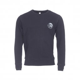 Sweat col rond Diesel Willy en coton noir