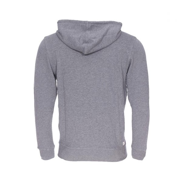 Sweat zippé à capuche Diesel Brandon gris chiné