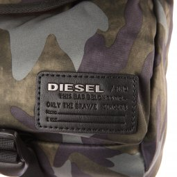 Porte-ordinateur/documents Diesel Close Ranks en tissu camouflage kaki
