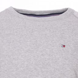 Sweat col rond Tommy Hilfiger gris chiné