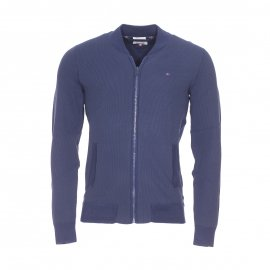 Sweat zippé Hilfiger Denim bleu marine, coupe bomber
