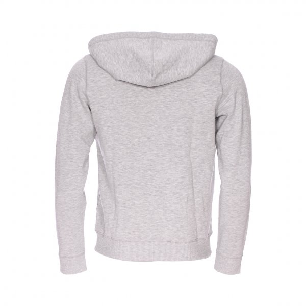 Sweat zippé à capuche Hilfiger Denim gris clair chiné