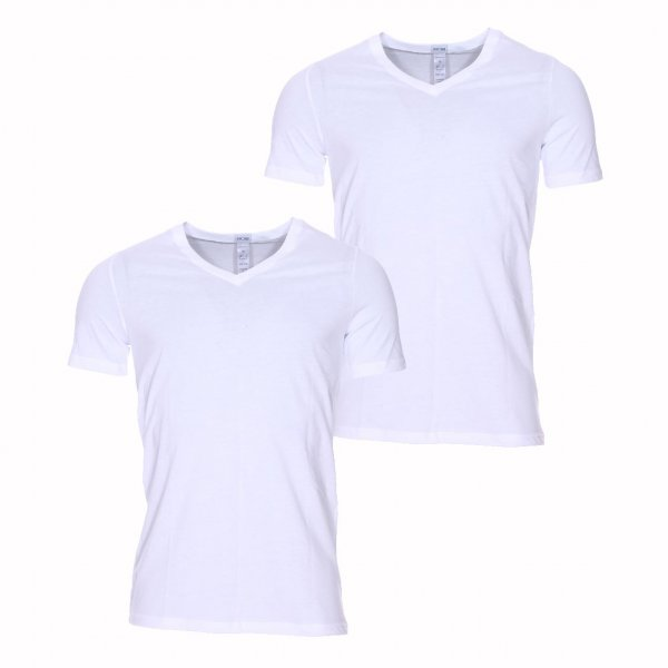 Lot de 2 tee-shirts col V Hom Daily cotton blanc