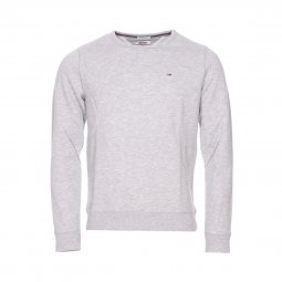 Sweat molletonné Hilfiger Denim en coton mélangé gris chiné