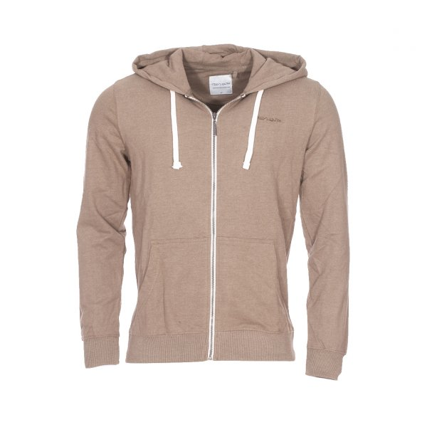 Sweat zippé à capuche Gelly Teddy Smith beige foncé chiné