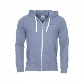 Sweat zippé à capuche Gelly Teddy Smith bleu horizon chiné
