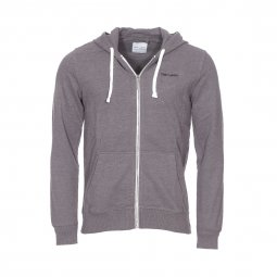 Sweat zippé à capuche Gelly Teddy Smith anthracite chiné