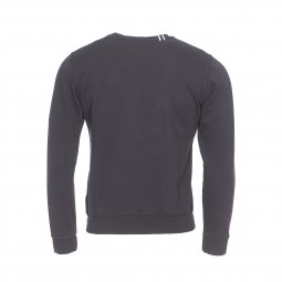 Sweat col rond Replay molletonné noir imprimé Replay en beige