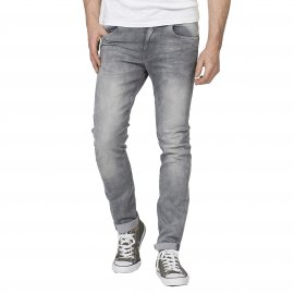 Jean slim Seaham 86 Petrol industries en denim stretch gris délavé