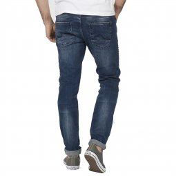 Jean slim Seaham 94 Petrol industries en denim stretch bleu brut délavé