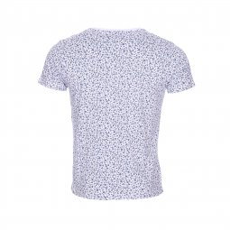 Tee-shirt col rond The Fresh brand blanc à imprimés liberty