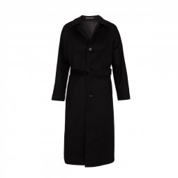 Manteau Long Cachemire Noir
