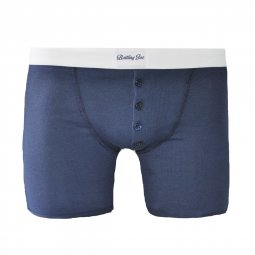 Boxer Made in France bleu marine à bandes blanches Mike