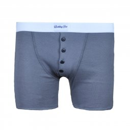 Boxer Made in France gris à bandes blanches Oscar