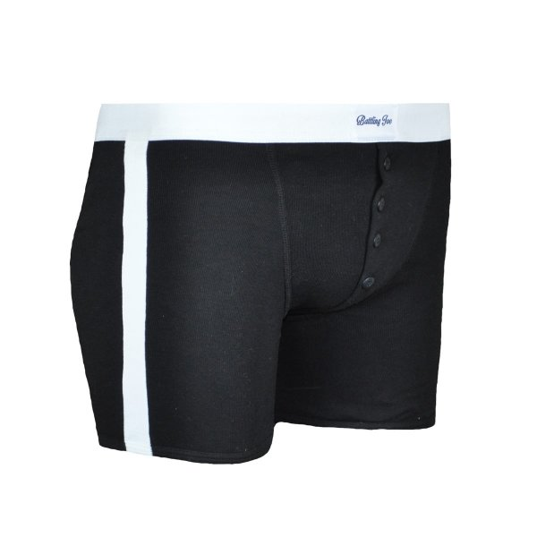 Boxer Made in France noir à bandes blanches Joe 20