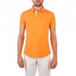 Polo Manches Courtes en coton Orange The Sailor