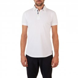 Polo Manches Courtes en coton Blanc The Player