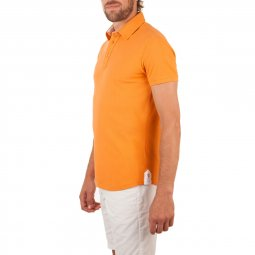 Polo Manches Courtes en coton Orange The Player