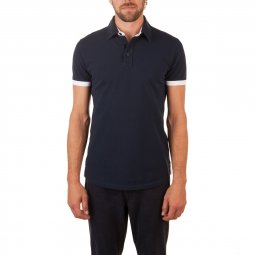 Polo Manches Courtes en coton Navy The Surfer
