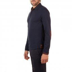 Polo Manches Longues en coton Navy The Mountaineer